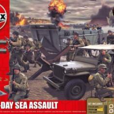 Kit Constructie Si Pictura Scena De Lupta Asaltul Pe Mare Aniversare 100 Ani Wwii D-Day - Jocuri Seturi constructie Airfix