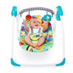 Bright Starts – 60403 Leagan Portabil Safari Smiles - Set mobila copii