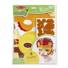 Set Creatie Masti Safari - Jocuri arta si creatie Melissa & Doug