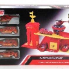 Masinuta electrica copii - Garaj Cu Masinute De Pompieri