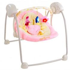 Fotoliu Balansoar Bebelusi Cangaroo Baby Swing Roz - Leagan