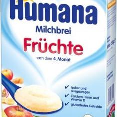 Humana cereale cu fructe 250 gr Germania - Cereale copii Milupa, De la 6 luni