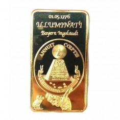 Lingou Masonic Iiluminati Masonice - Masonerie Universala Bullion Bar, America de Nord, An: 2015