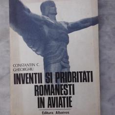 Inventii si prioritati romanesti in aviatie - Carti Inventica