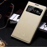 Husa piele crem S View Samsung Galaxy S4 i9500 i9505