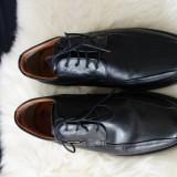 Pantofi piele naturala MasterClass, marimea 42 - Pantofi barbati, Culoare: Negru