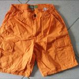 Haine Copii 10 - 12 ani, Pantaloni, Unisex - Pantaloni scurti de vara pentru copii, unisex, portocalii, 9-11 ani, simpli