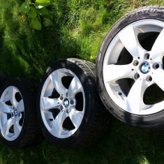 Jante aliaj BMW, Diametru: 17, 7, 5, Numar prezoane: 5 - Vand jante originale BMW pe 17 seria 5 E60 E90 cu cauciucuri Dunlop SPSportMaxx