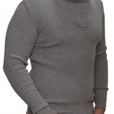 Pulover Barbati din Tricot Fin Carisma Gri 7132, S, M, L, XL, XXL