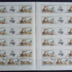 CEHOSLOVACIA - MASINI VECHI, FOAIE DIN CARNET, 10 M/SH OBLITERATE - EO 267, An: 1976, Europa