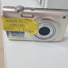 APARAT FOTO DIGITAL NIKON S2500 (CTG) - Aparat Foto compact Nikon, Compact, 12 Mpx, 4x, 2.7 inch