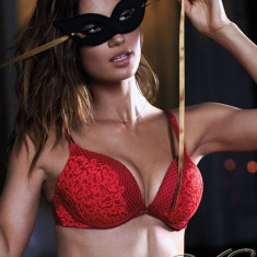 VICTORIA'S SECRET USA BOMBSHELL ADD-2-CUPS Limited Edit Push-up Bra Sutien 80A