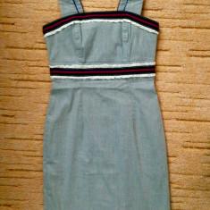 Rochie de zi Nissa - M 40, Culoare: Gri, Midi, Cu bretele