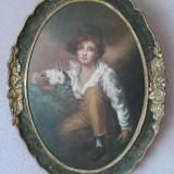 Pictura in ulei pe panza lipita pe carton presat - Pictor roman, Portrete, Altul