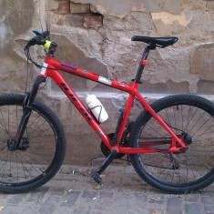 Bicicleta MTB Ideal Pro Rider frana disc - Mountain Bike Ideal, 18 inch, 26 inch, Numar viteze: 21, Aluminiu, Rosu