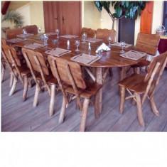 Masa gradina - Masa oval cu 10 scaune Gardenland - MSI 005