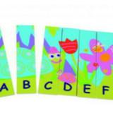 Puzzle din lemn pentru invatarea alfabetului.