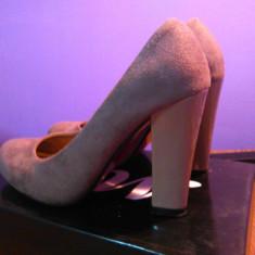 PANTOFI CASUAL - Pantof dama, Marime: 35, Culoare: Khaki, Piele intoarsa