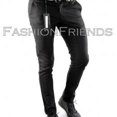 Pantaloni tip ZARA negri -pantaloni barbati slim fit -pantaloni office - 5070