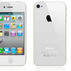 Telefon Apple iPhone 4 Alb, 16 GB, Wi-Fi, Fara alimentator, Carcasa Grad B