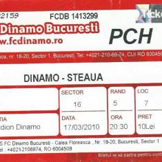 Bilet meci fotbal Dinamo - Steaua (2010)