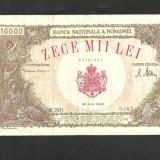 BANCNOTA 10.000 LEI - 28 MAI 1946( serie 60765387) VF