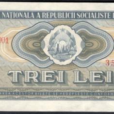 Bancnote Romanesti, An: 1966 - 3 lei 1966 - de colectie (AUNC)