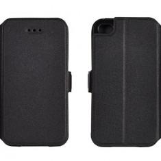 Husa Telefon Huawei, Negru, Piele Ecologica, Cu clapeta, Toc - Husa HUAWEI Honor 7 Flip Case Inchidere Magnetica Black