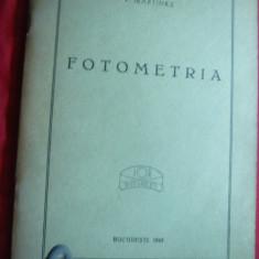 Carte tehnica - P.Martinez - Fotometria Ed. 1943 IOR Cartea de Aur SAR
