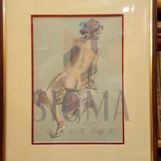 TABLOU, RADU DARANGA, NUD - STUDIU, PASTEL - Pictor roman