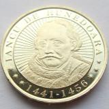 IANCU DE HUNEDOARA 50 bani 2016 comemorativa UNC din FISIC - Moneda Romania, Alama