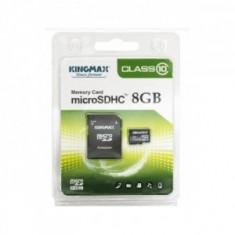 Kingmax, 8GB, KM08GMCSDHC101A, Clasa 10, Micro Secure Digital Card cu adaptor - Card memorie Kingmax, Micro SD