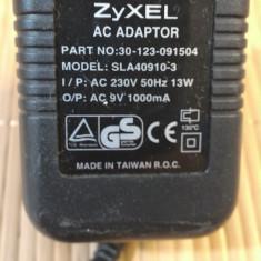 Alimentator Incarcator ZYXEL 9V AC 1000mA Model SLA40910-3