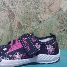 Tenisi copii, Baieti - Tenisi de fete, marca Super G, culoare negru cu floricele, marimi de la 26 la 31