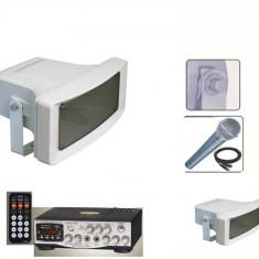 MEGAFOANE/PORTAVOCI 200 WATT, STATIE CU USB, TELECOMANDA, MICROFON BONUS, 200 WATT.