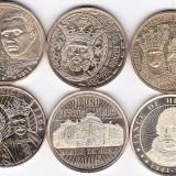 Monede Romania, An: 2015 - LOT SERIE COMPLETA 6 buc. 50 bani COMEMORATIVE 2010 2011 2012 2014 2015 2016 (1)