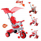 Tricicleta copii - Tricicleta Baby Trike 4 in 1 Deluxe Red