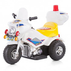 Masinuta electrica copii Chipolino - Motocicleta electrica copii Police white 2016