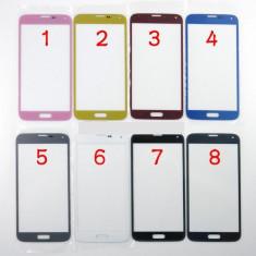 Geam carcasa - Ecran Samsung Galaxy s5 SM-G900F auriu geam