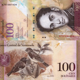 VENEZUELA 100 bolivares 2015 UNC!!!, America Centrala si de Sud