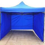 Cort Pavilion 3x3m impermeabil cu petete pe 3 laturi nou pliabil metalic, Numar persoane: 4