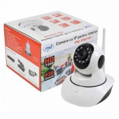 Camera supraveghere IP wireless PNI IP801W, P2P, PTZ, Onvif, slot card microSD