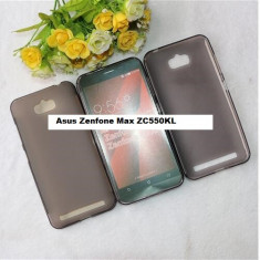 HUSA ASUS Zenfone Max ZC550KL silicon subtire fumurie 2016 - Husa Telefon Asus, Maro