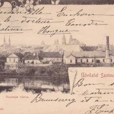 SATU MARE, SALUTARI DIN SATU MARE, CIRCULATA AUG.*902 - Carte Postala Maramures pana la 1904, Printata
