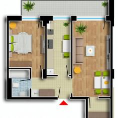 Apartament de vanzare, 2 camere, Etajul 7, An constructie: 2016, Suprafata: 81 - Apartament NOU, Cartier Prima Residence Oradea, 2 camere-NAPOLI, 52302Eur