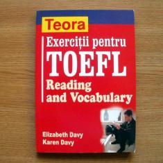 Exercitii pentru TOEFL Reading and Vocabulary - Teora - Curs Limba Engleza