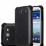 HUSA / CARCASA S3 CAUCIUC HEAVY DUTY + folie protectie cadou, Samsung Galaxy S3, Negru, Metal / Aluminiu