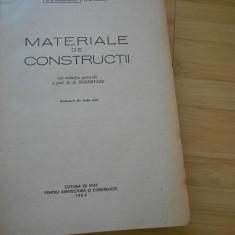 B. G. SKRAMTAEV--MATERIALE DE CONSTRUCTII - 1954 - Carti Constructii