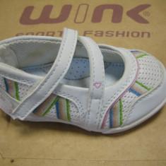 Pantofi fetite WINK;cod FS493-4(alb);-6(pink);marime:22-27 - Sandale copii Wink, Fete, Textil