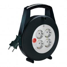 Priza - Prelungitor electric rola Brennenstuhl, 10 m, Negru/Gri